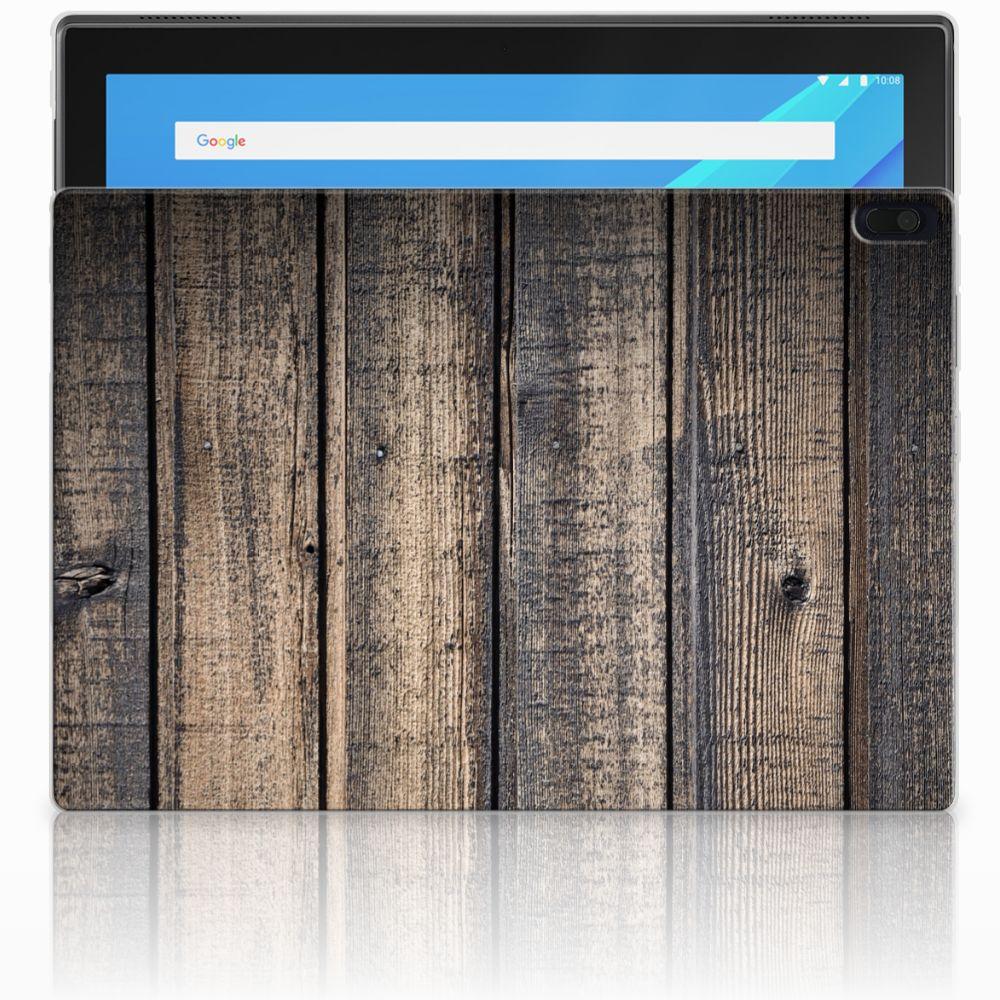 Lenovo Tab 4 10.1 Tablethoesje Design Steigerhout