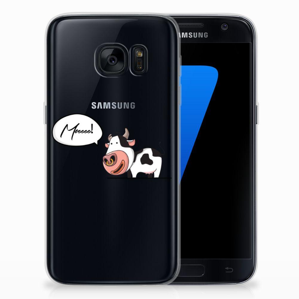 Samsung Galaxy S7 Telefoonhoesje met Naam Cow