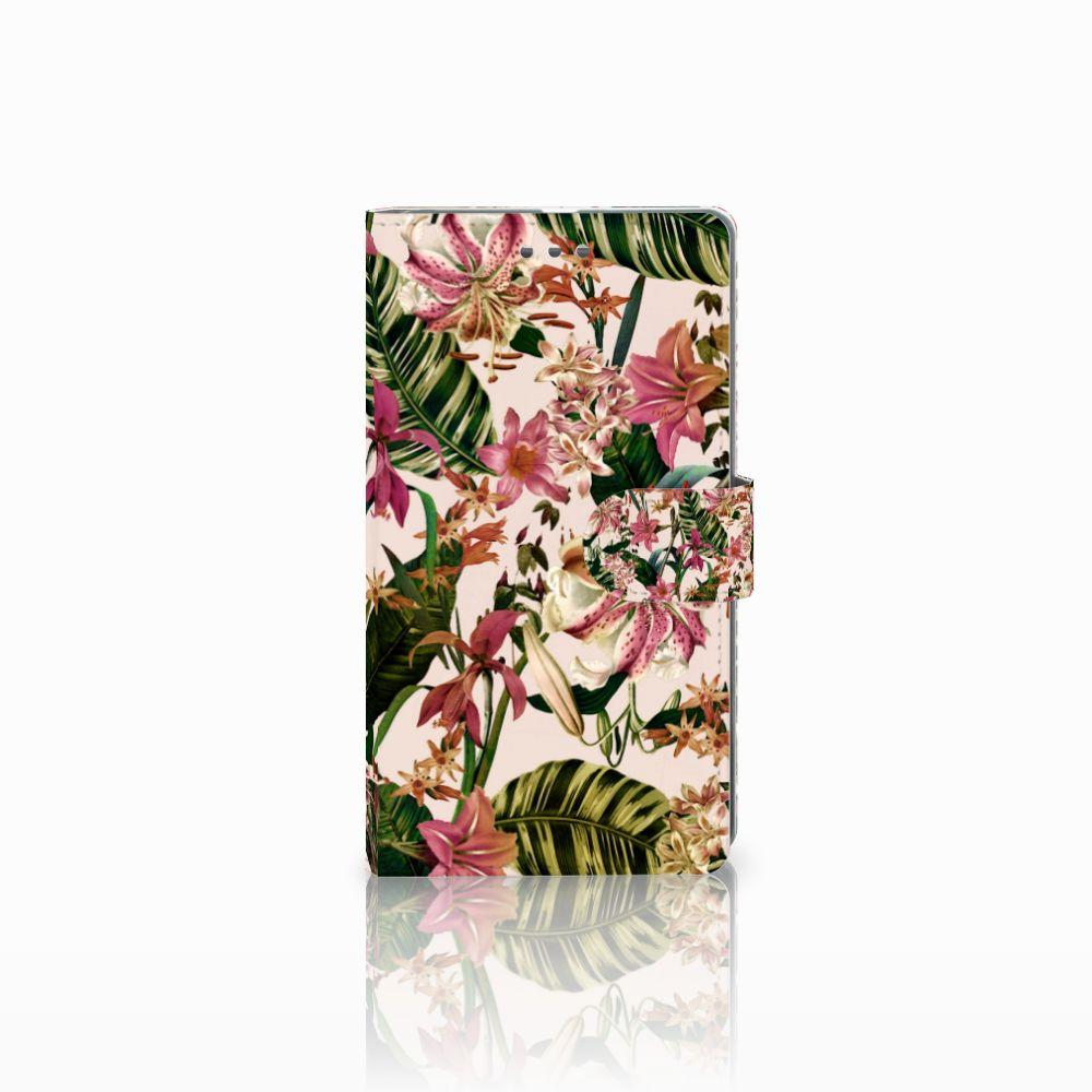 Microsoft Lumia 950 XL Uniek Boekhoesje Flowers