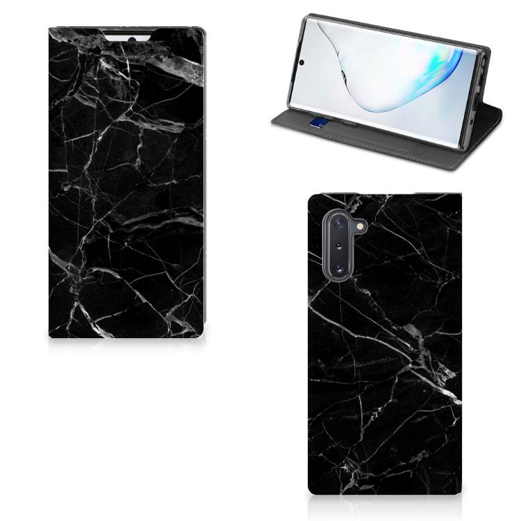 Samsung Galaxy Note 10 Standcase Marmer Zwart