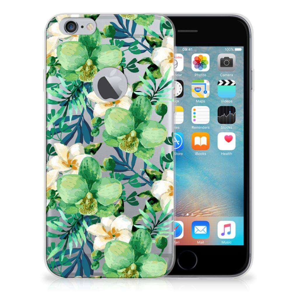 Apple iPhone 6 Plus | 6s Plus TPU Case Orchidee Groen