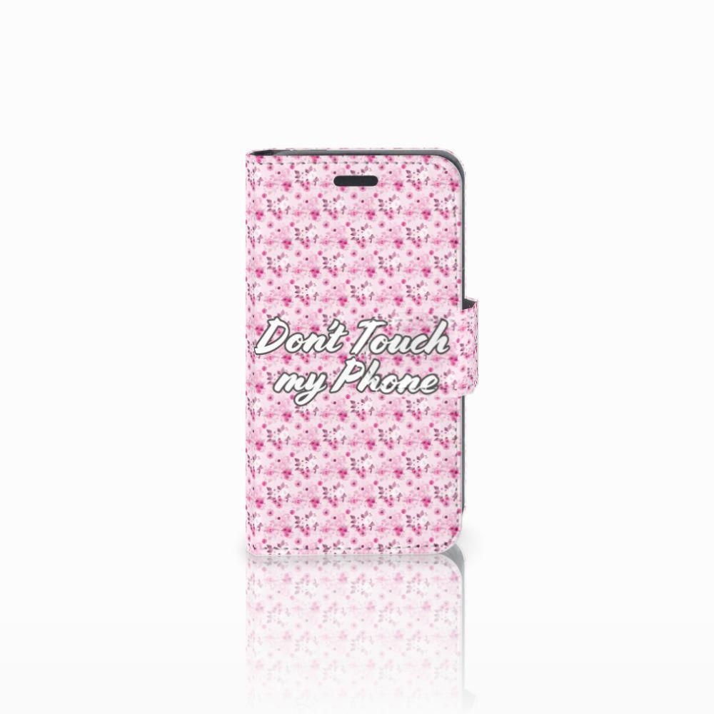 Nokia Lumia 520 Uniek Boekhoesje Flowers Pink DTMP