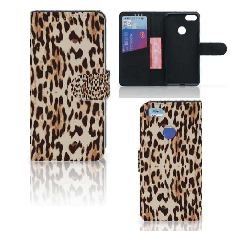 Motorola Moto E6 Play Telefoonhoesje met Pasjes Leopard