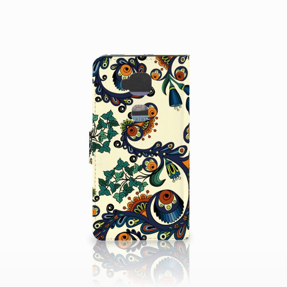 Wallet Case Huawei G8 Barok Flower