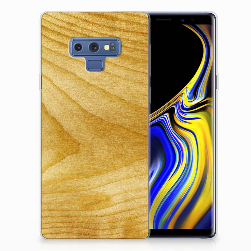 Samsung Galaxy Note 9 Bumper Hoesje Licht Hout