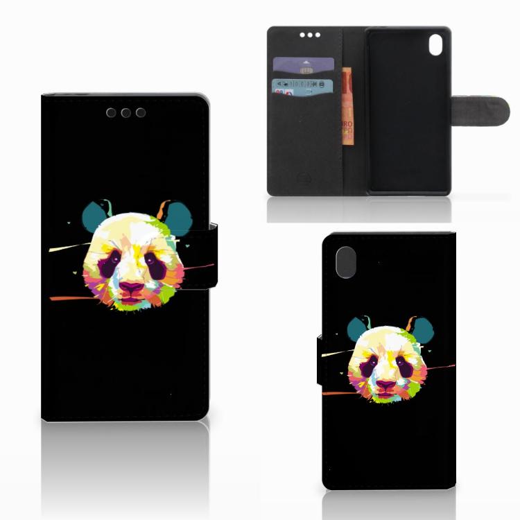 Sony Xperia M4 Aqua Leuk Hoesje Panda Color