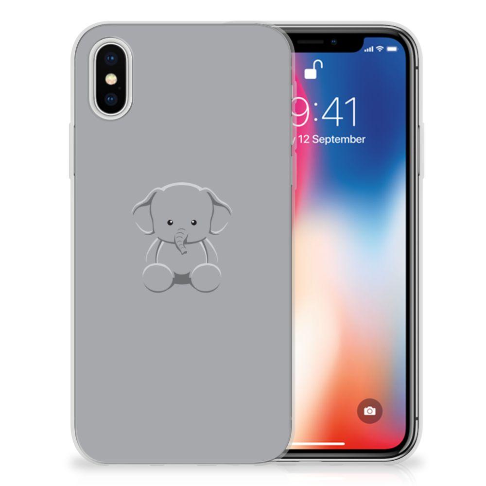 Apple iPhone X | Xs Uniek TPU Hoesje Baby Olifant