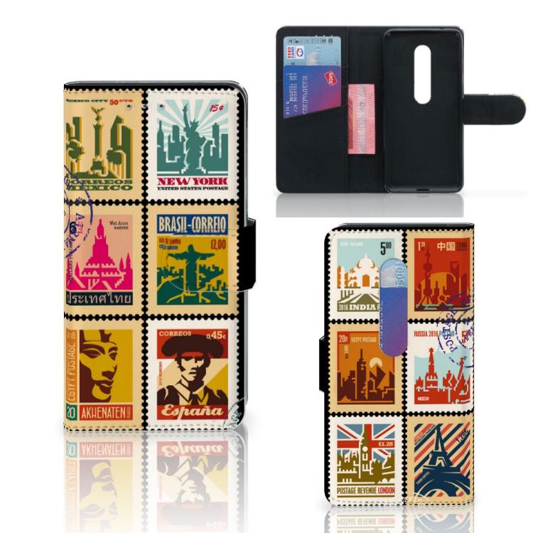 Motorola Moto G 3e Generatie Flip Cover Postzegels