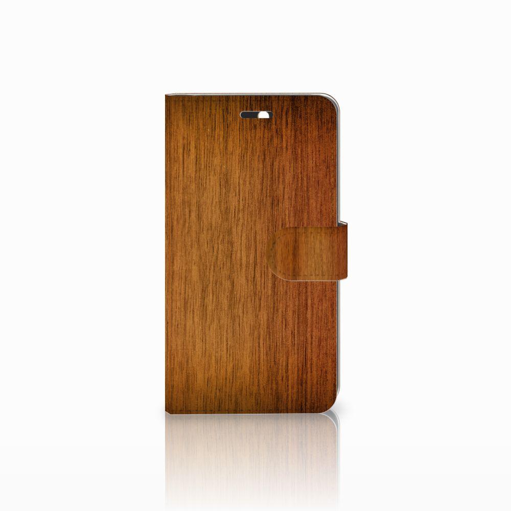 Huawei Y6 II | Honor 5A Uniek Boekhoesje Donker Hout