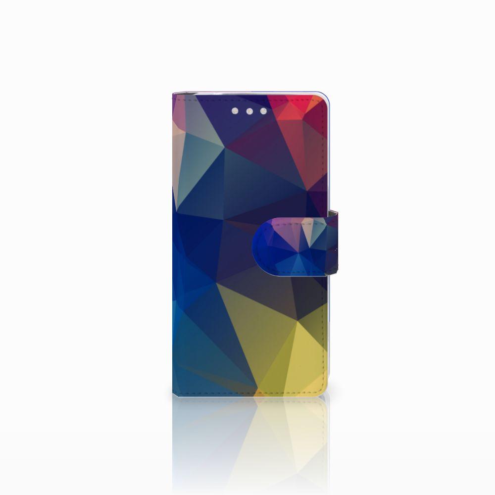 Sony Xperia XZ2 Compact Uniek Boekhoesje Polygon Dark