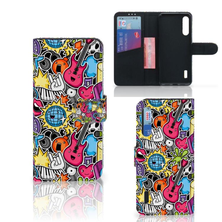 Xiaomi Mi A3 Wallet Case met Pasjes Punk Rock