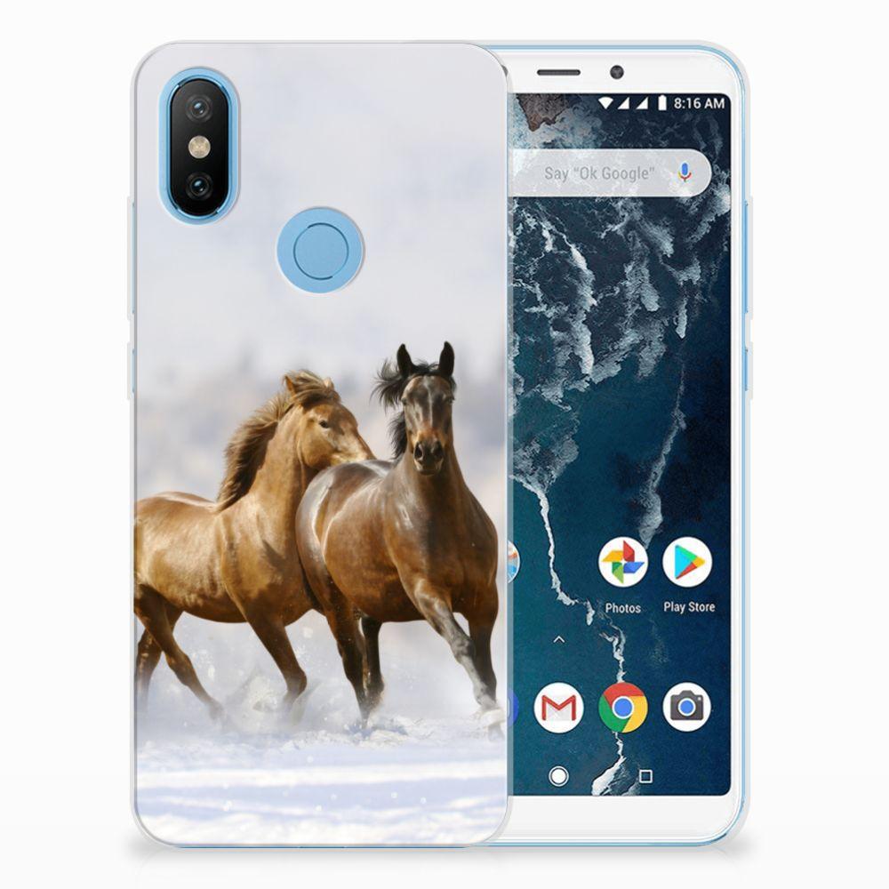 Xiaomi Mi A2 Leuk Hoesje Paarden