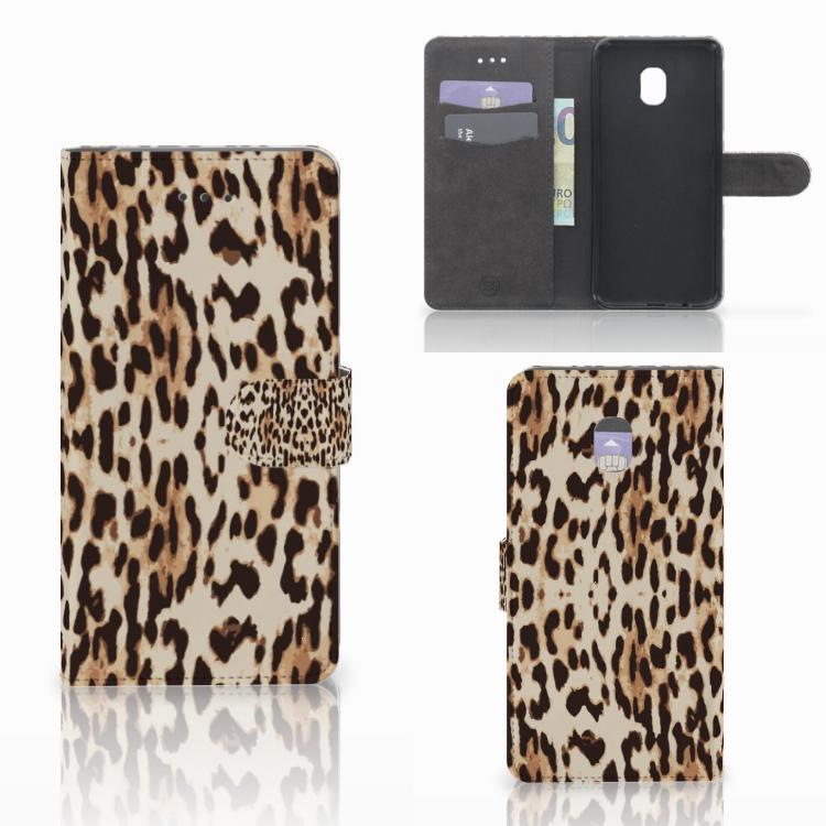 Samsung Galaxy J7 (2018) Telefoonhoesje met Pasjes Leopard