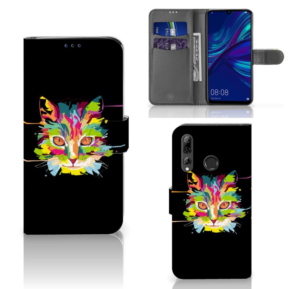 Huawei P Smart 2019 Leuk Hoesje Cat Color