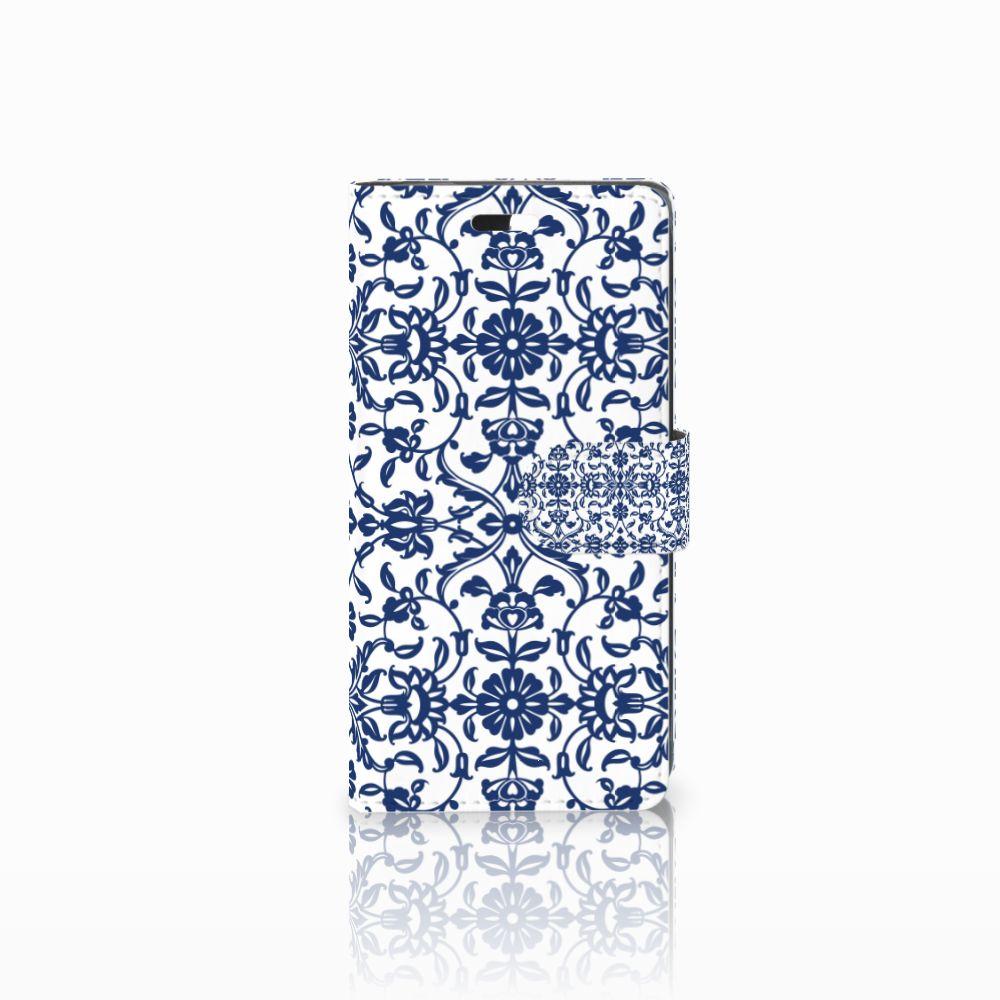 Huawei Y635 Boekhoesje Flower Blue