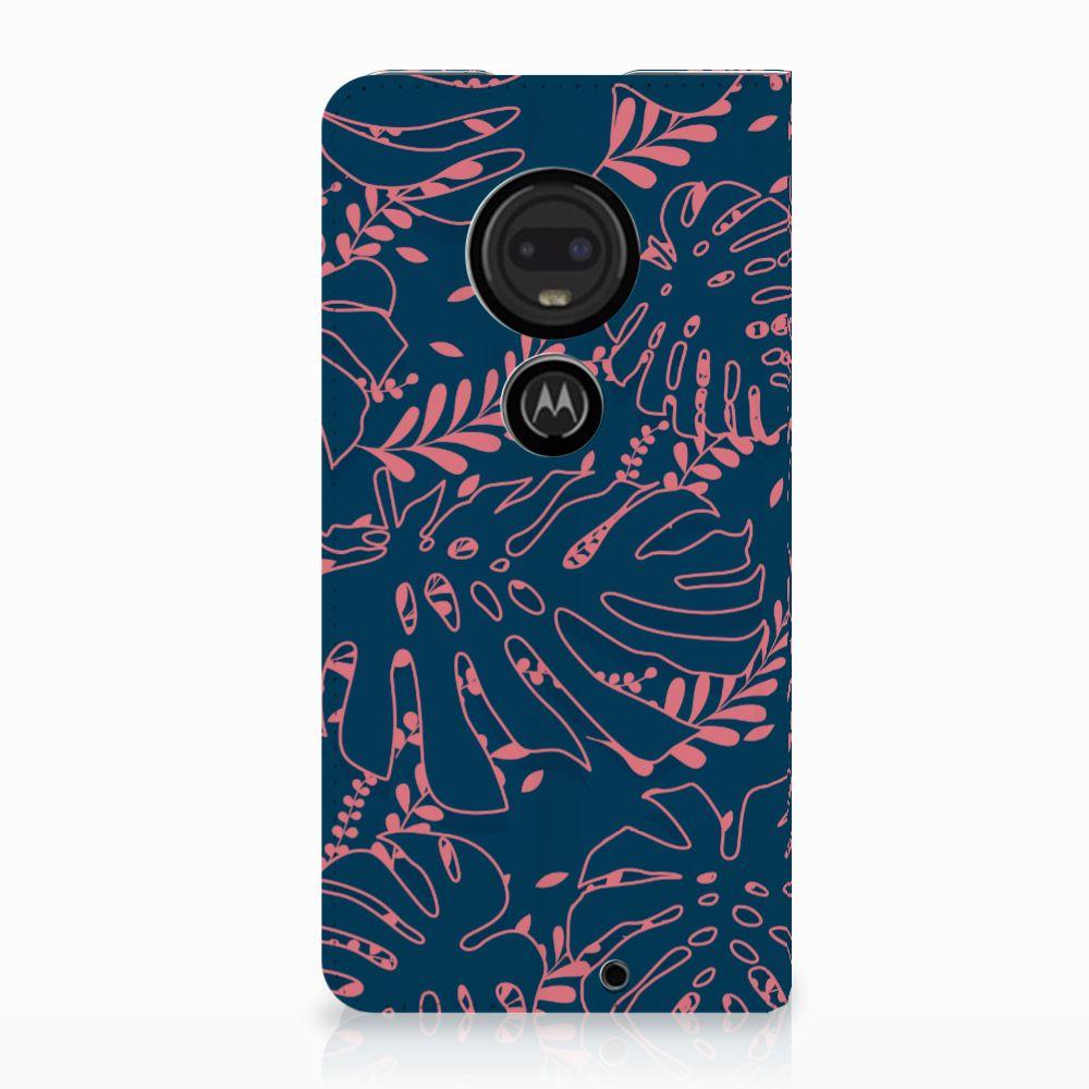 Motorola Moto G7 | G7 Plus Standcase Hoesje Design Palm Leaves