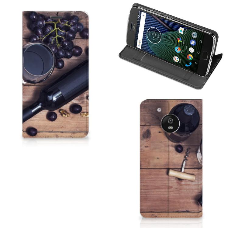 Motorola Moto G5 Flip Style Cover Wijn