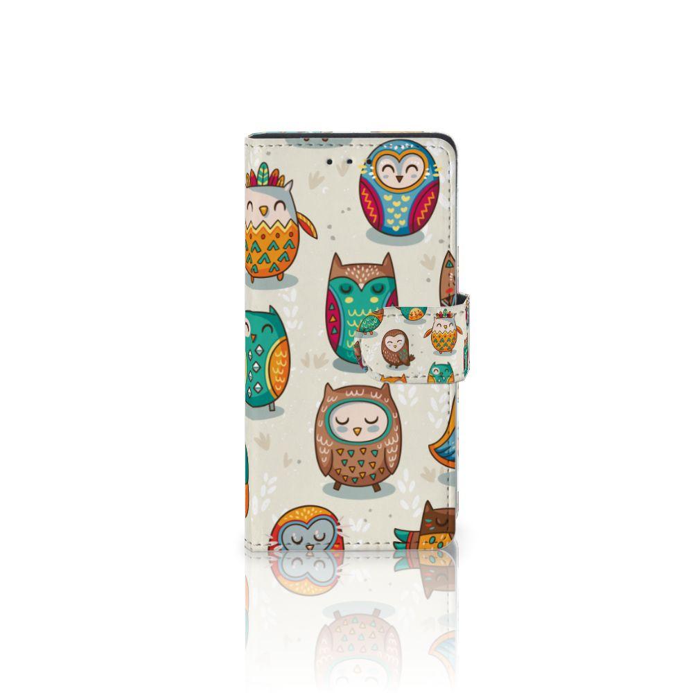 Samsung Galaxy S5   S5 Neo Telefoonhoesje met Pasjes Vrolijke Uilen