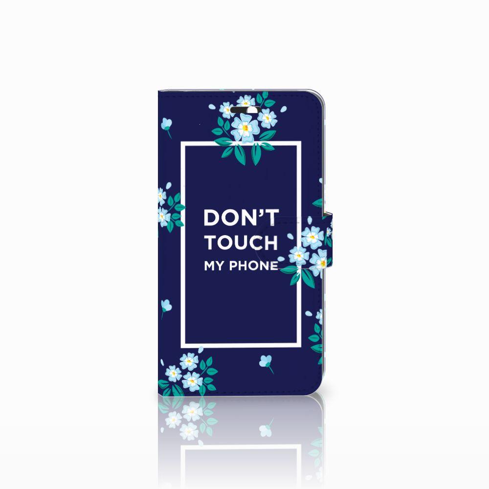Huawei Y6 II   Honor 5A Boekhoesje Flowers Blue DTMP