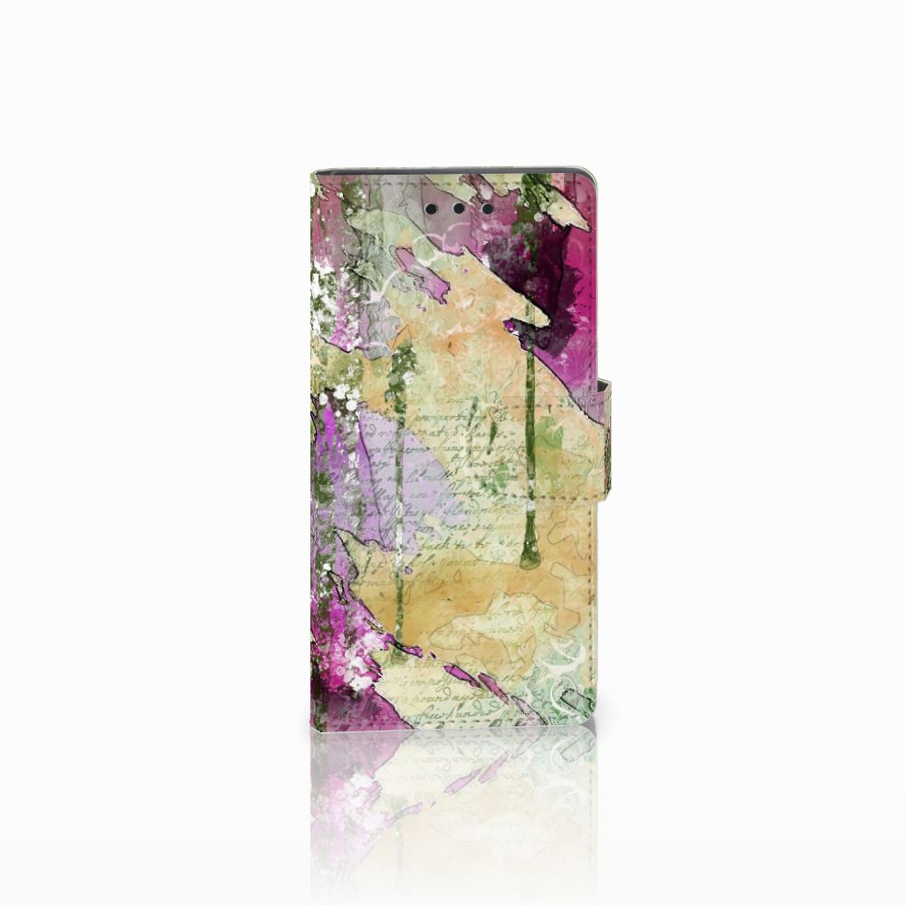 Sony Xperia Z5 Compact Uniek Boekhoesje Letter Painting