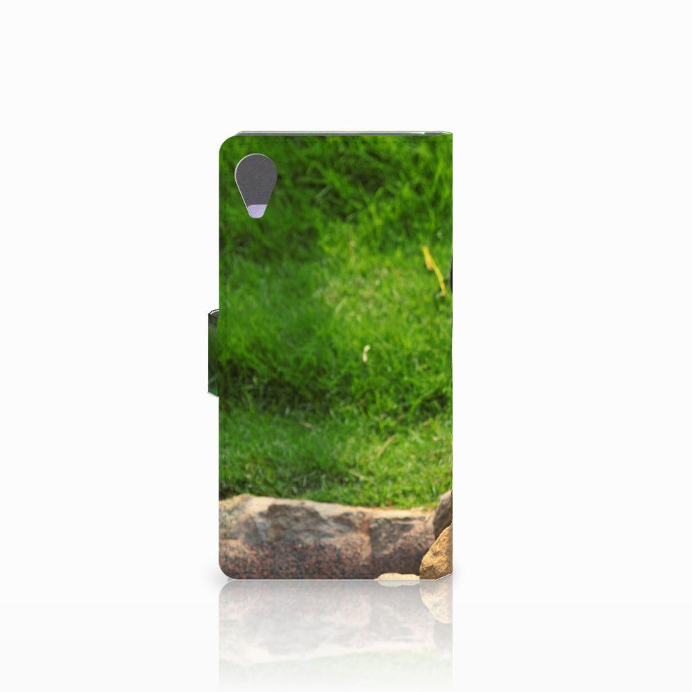 Sony Xperia X Performance Telefoonhoesje met Pasjes Panda