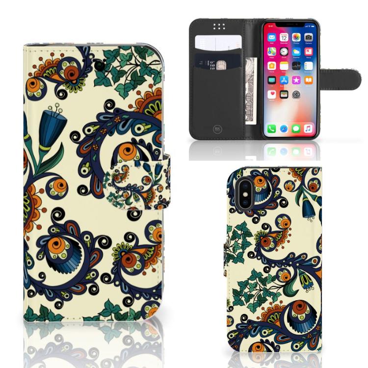 Wallet Case Apple iPhone X | Xs Barok Flower