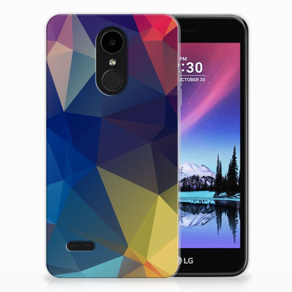 LG K4 (2017) TPU Hoesje Polygon Dark