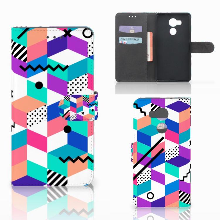 Huawei Mate 8 Bookcase Blokken Kleurrijk