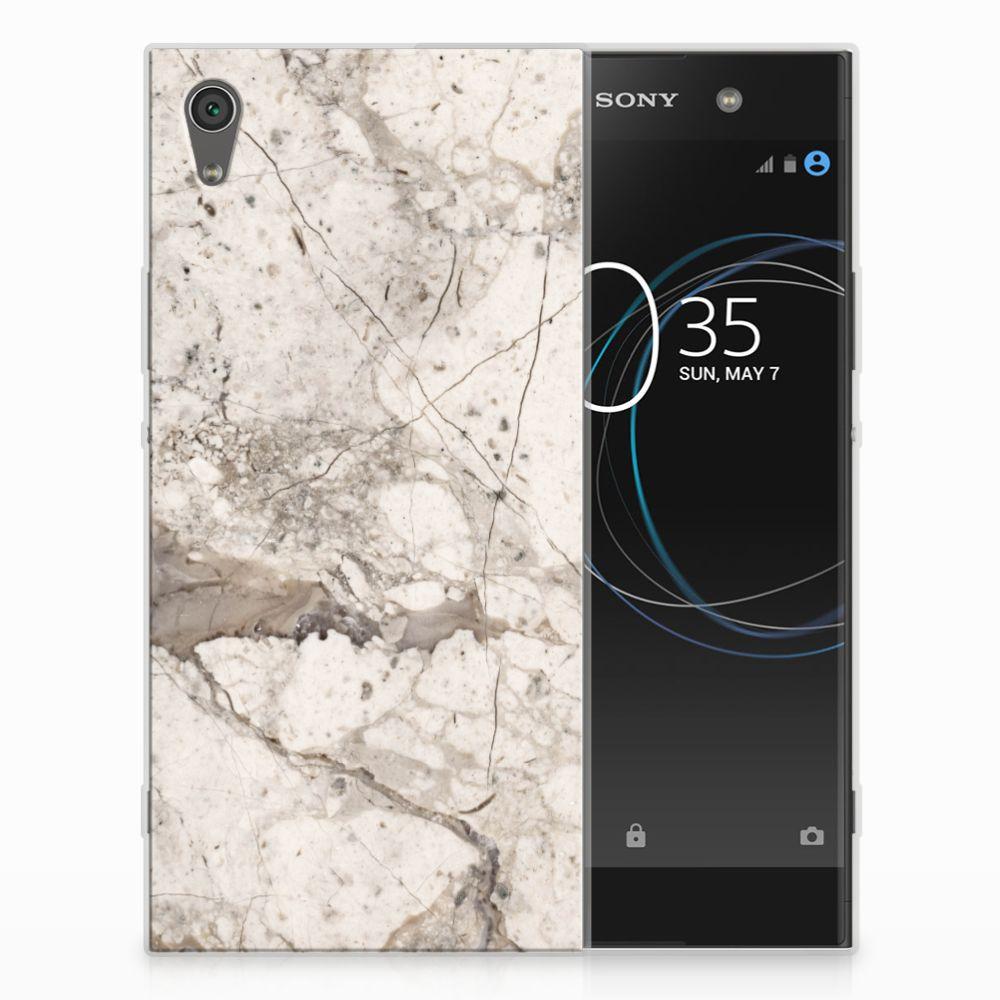 Sony Xperia XA1 Ultra TPU Hoesje Design Marmer Beige