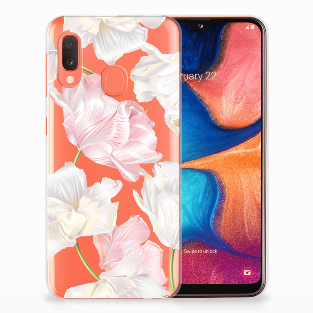 Samsung Galaxy A20e TPU Hoesje Design Lovely Flowers