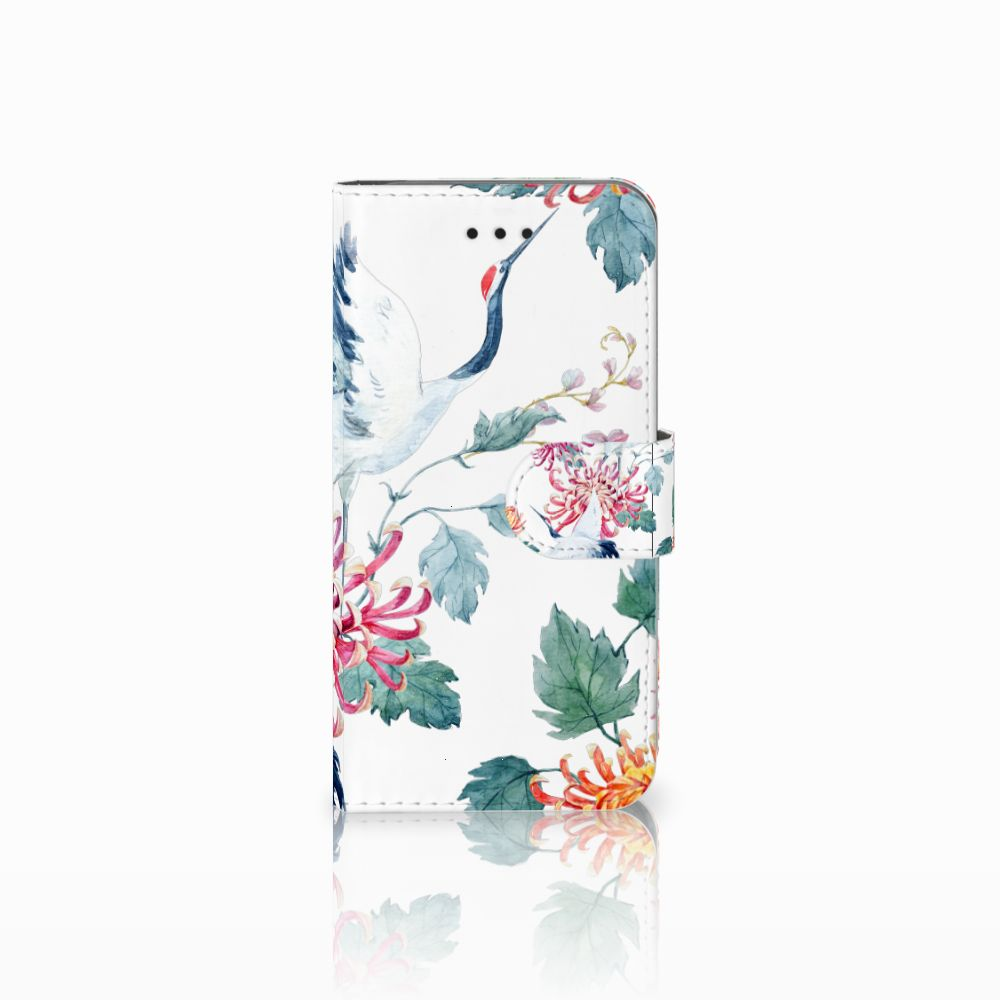 Apple iPhone X | Xs Uniek Boekhoesje Bird Flowers
