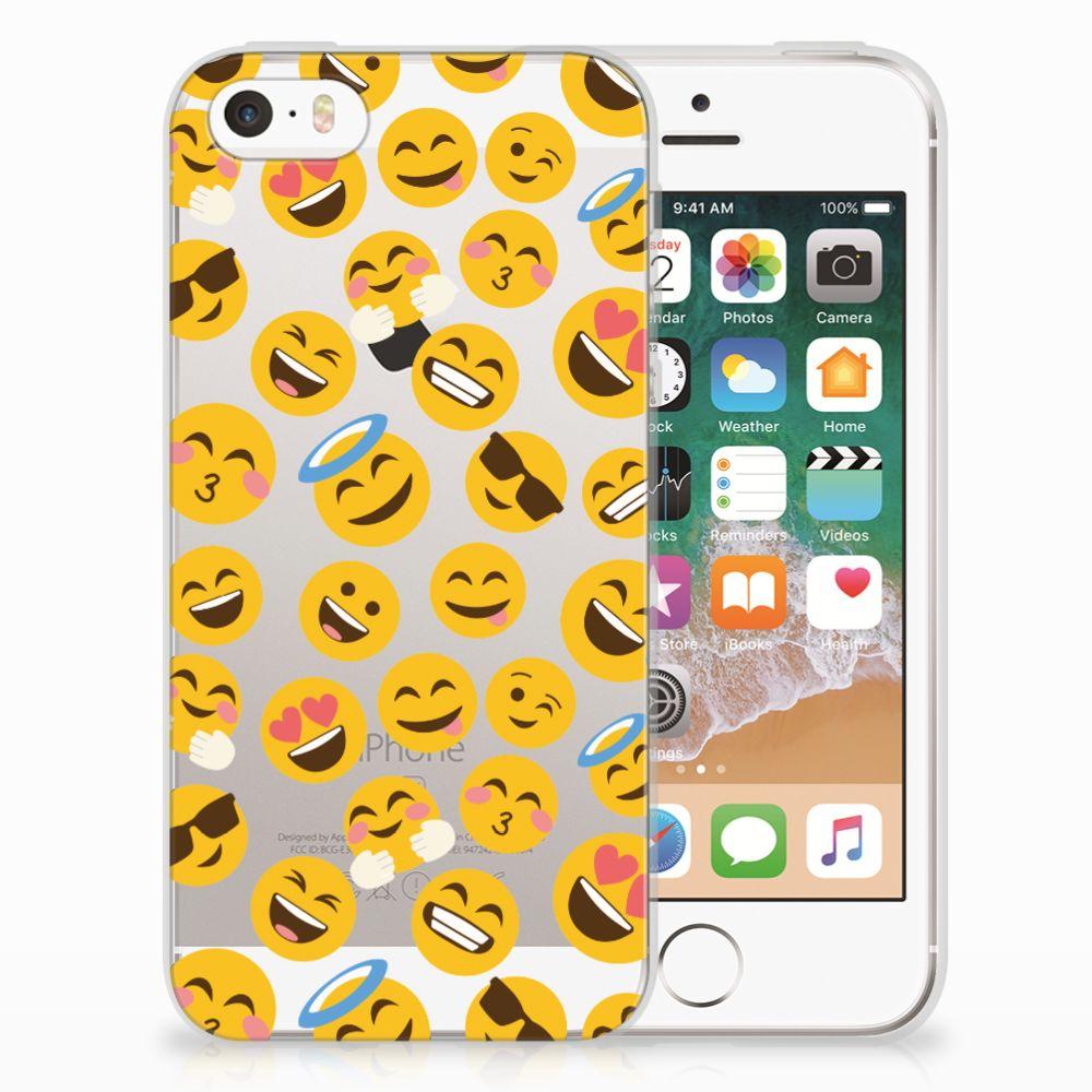 Apple iPhone SE   5S TPU Hoesje Design Emoji