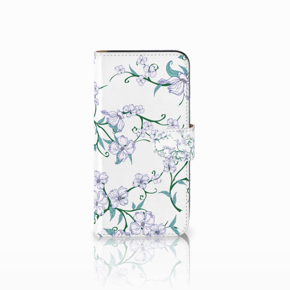 Samsung Galaxy E5 Uniek Boekhoesje Blossom White