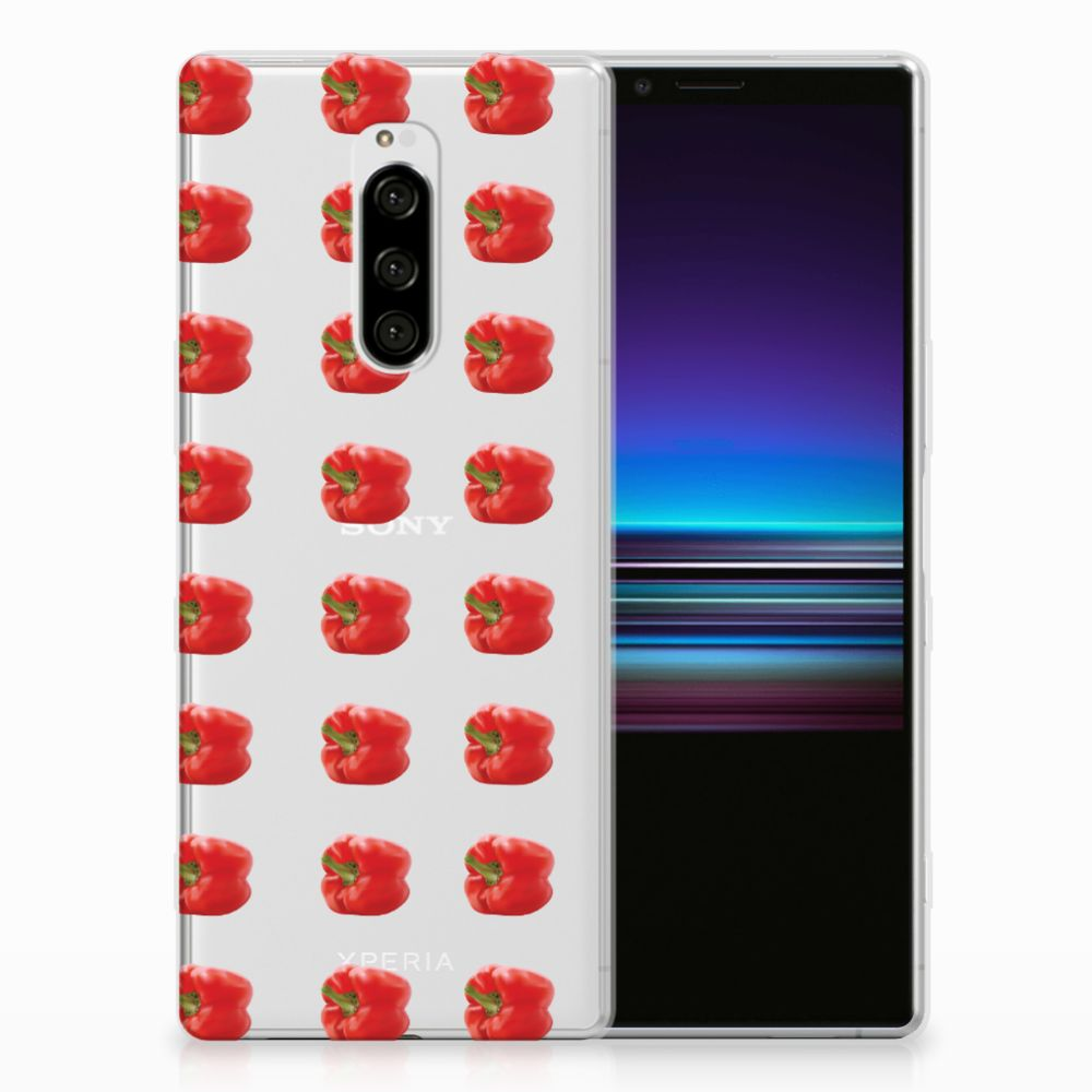 Sony Xperia 1 Siliconen Case Paprika Red