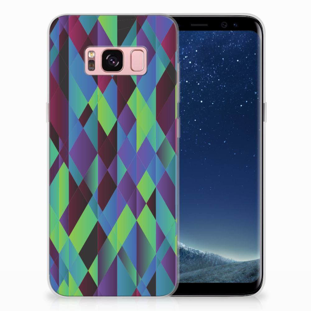 Samsung Galaxy S8 TPU Hoesje Abstract Green Blue