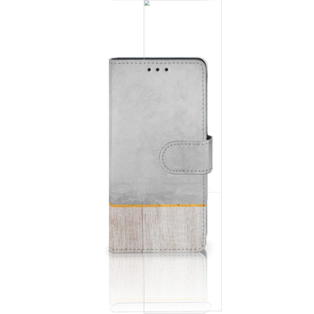 Huawei Ascend P8 Lite Book Style Case Wood Concrete