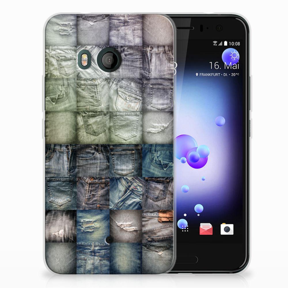 HTC U11 Uniek TPU Hoesje Spijkerbroeken