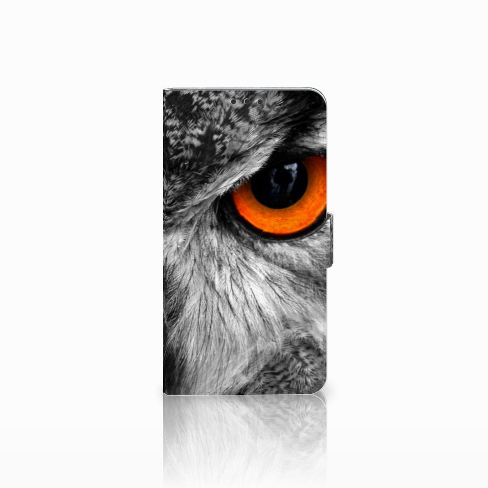 Microsoft Lumia 640 XL Telefoonhoesje met Pasjes Uil