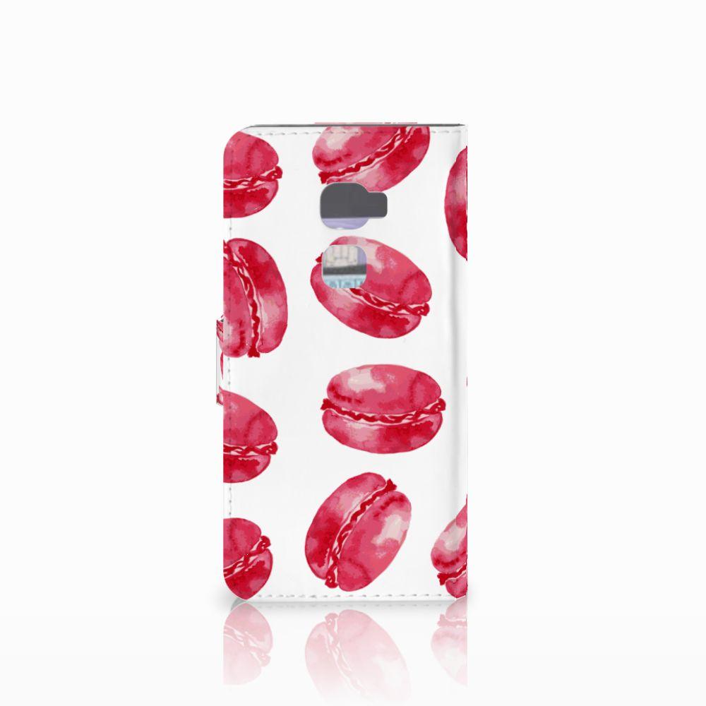 Huawei Mate S Book Cover Pink Macarons