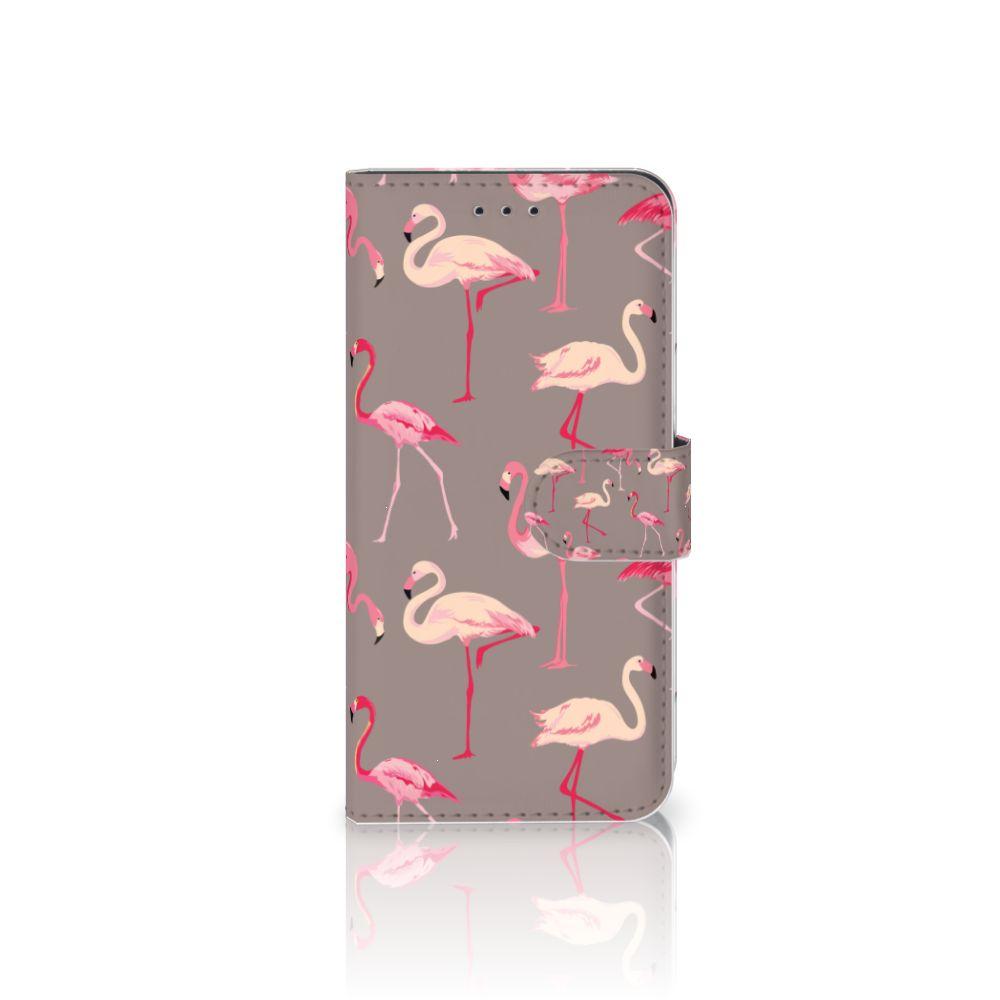 Nokia 7.1 Uniek Boekhoesje Flamingo