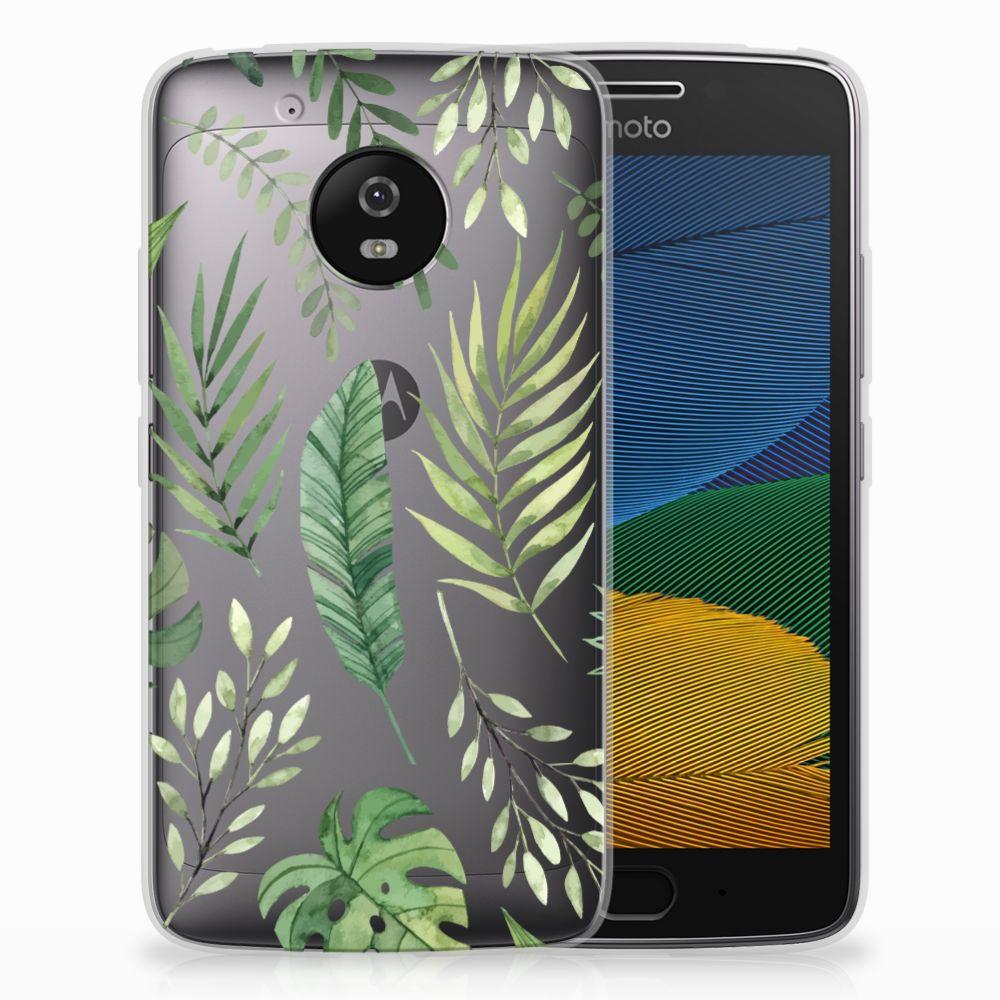 Motorola Moto G5 TPU Case Leaves