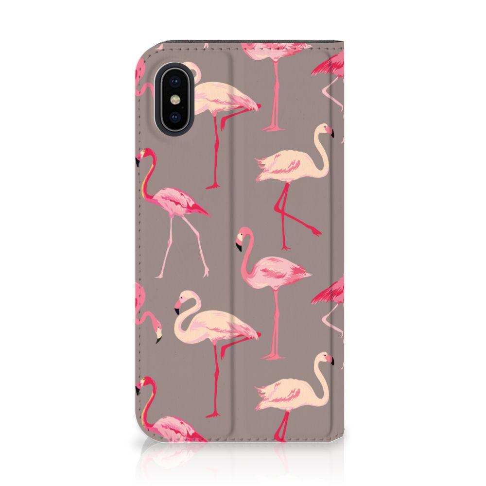 Apple iPhone X | Xs Uniek Standcase Hoesje Flamingo