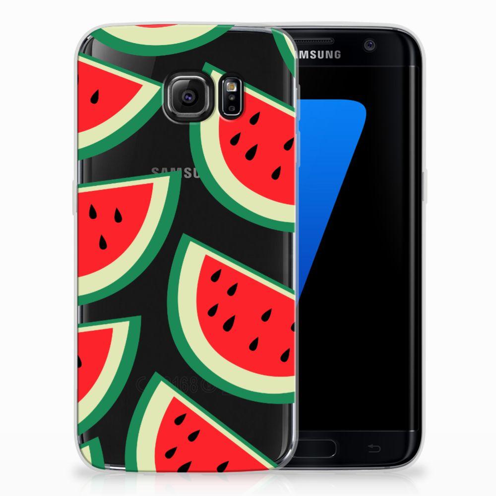 Samsung Galaxy S7 Edge Siliconen Case Watermelons