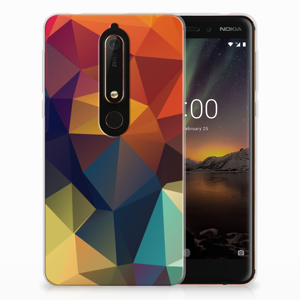 Nokia 6 (2018) TPU Hoesje Polygon Color