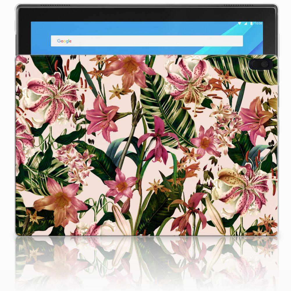 Lenovo Tab 4 10.1 Siliconen Hoesje Flowers