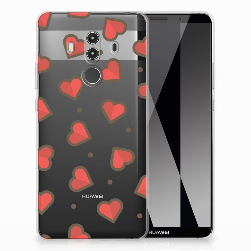Huawei Mate 10 Pro TPU Hoesje Design Hearts