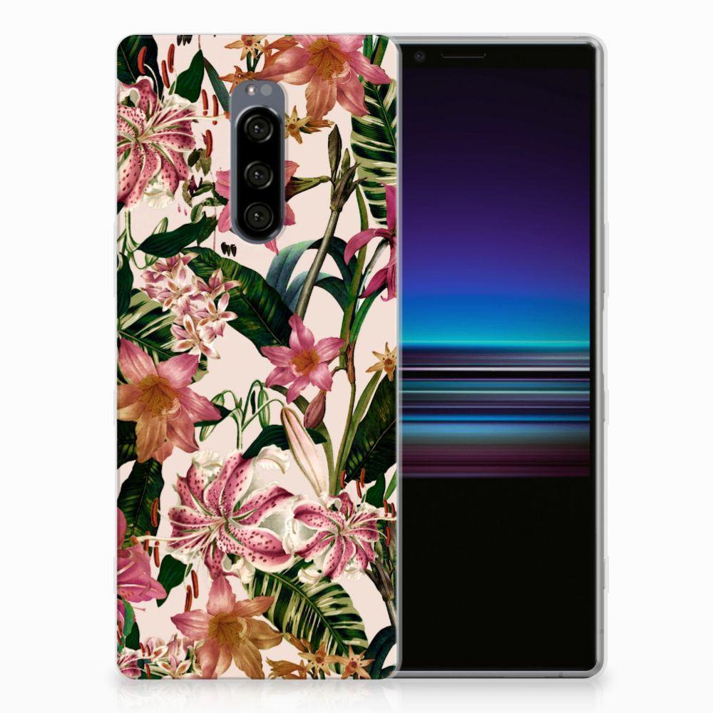 Sony Xperia 1 Uniek TPU Hoesje Flowers