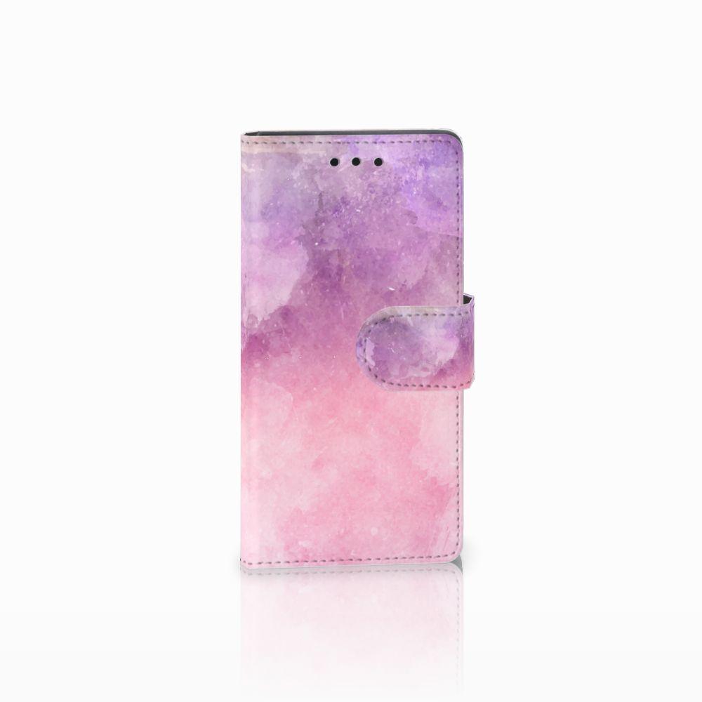 Sony Xperia Z5 Compact Boekhoesje Design Pink Purple Paint