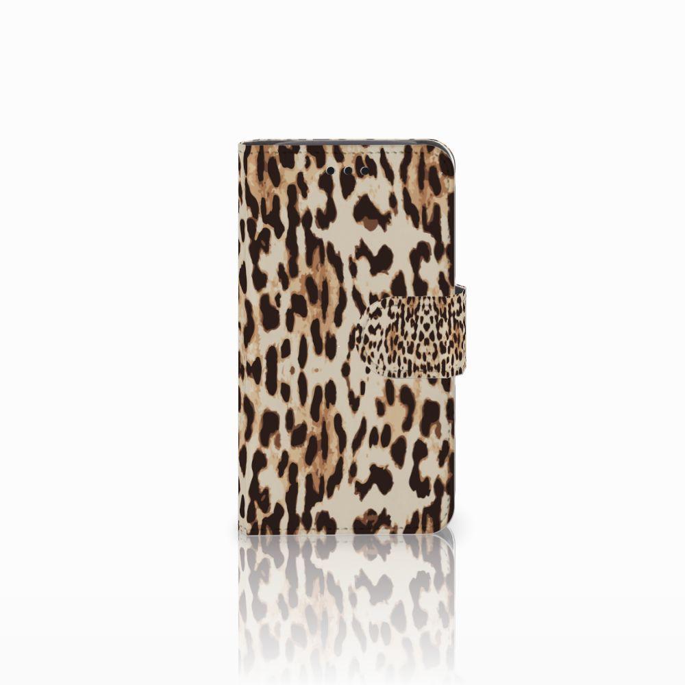 Samsung Galaxy Core i8260 Uniek Boekhoesje Leopard