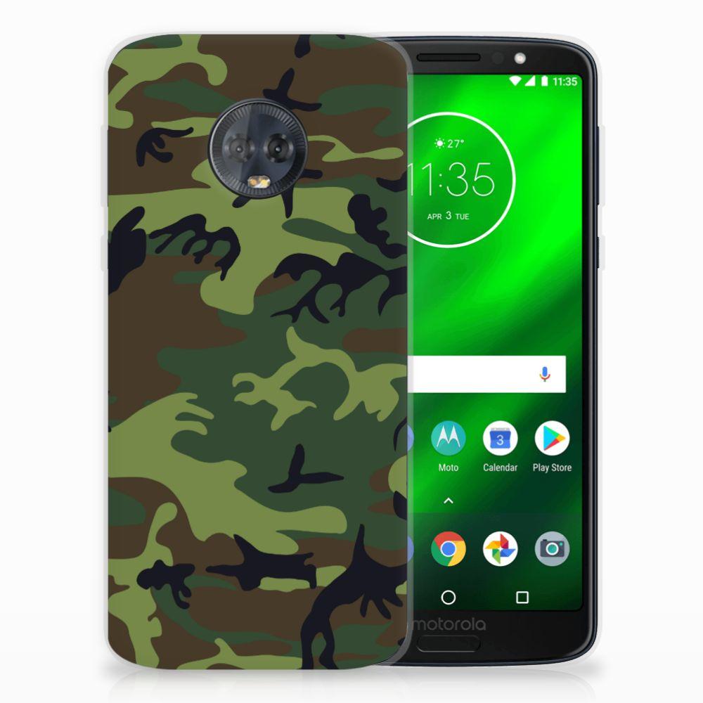 Motorola Moto G6 Plus TPU Hoesje Design Army Dark